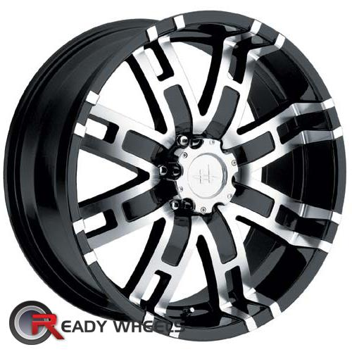 HELO He835 Machined w/ Black 8-Spoke 17 5x114 + Sunny SN380 205/40/17