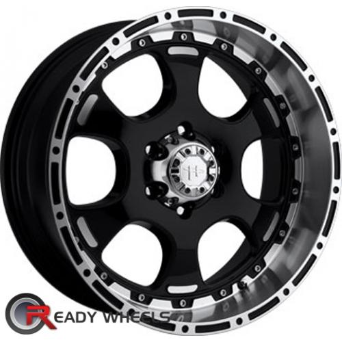 HELO He842 Machined w/ Black 6-Spoke 16 5x114 + Nankang NS-1 205/45/16 ALL-SEASON