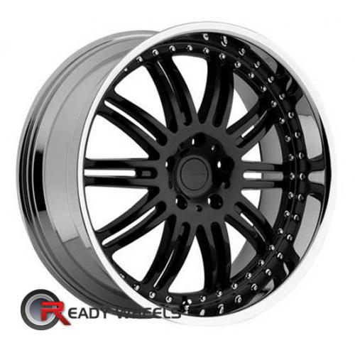 KMC Km127 Black Gloss Multi-Spoke 38 18 5x108 + Delinte D7 225/40/18