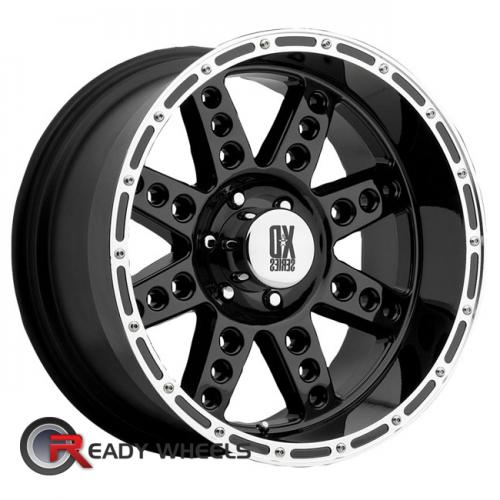 KMC XD Xd766 Black Gloss 8-Spoke 18 5x114 + Delinte D7 225/40/18