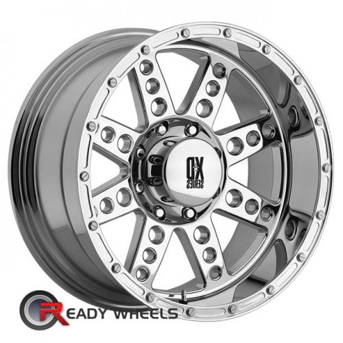 KMC XD Xd766 Chrome 8-Spoke 17 5x114 + Sunny SN380 205/40/17