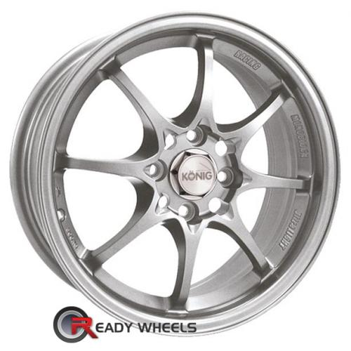 KONIG Helium Silver Flat 8-Spoke 40 15 4x100 + Nankang N605 195/50/15 ALL-SEASON