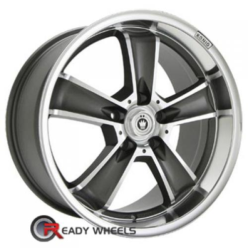 KONIG Beyond Machined w/ Gunmetal 5-Spoke 30 17 5x114 + Sunny SN380 205/40/17