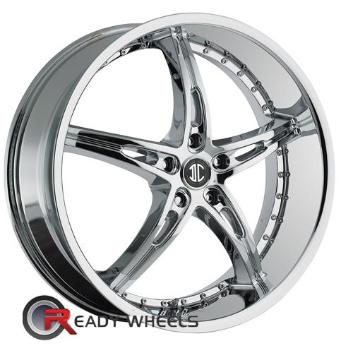 II Crave No14 Chrome 5-Spoke 18 5x100 + Delinte D7 225/40/18