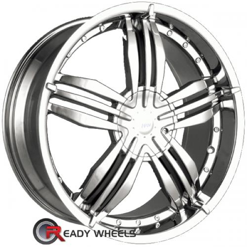 MPW MP105 Chrome 5-Spoke Split 40 20 5x112 + Delinte D7 245/35/20