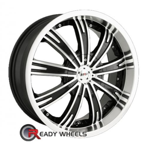 MPW MP109 Machined w/ Black Multi-Spoke 40 17 4x100