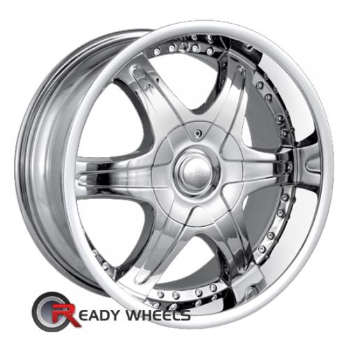 MPW MP205 Chrome 6-Spoke 15 18 5x114 + Delinte D7 225/40/18
