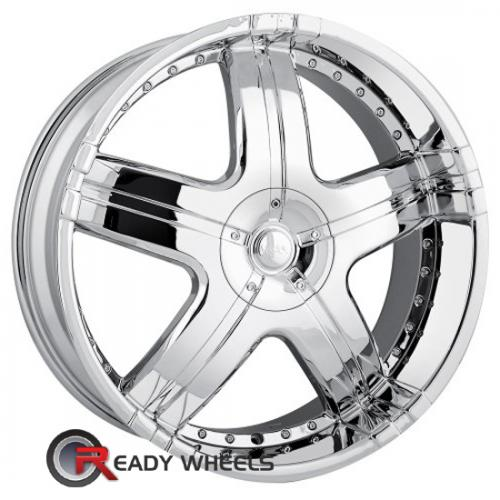 MPW MP206 Chrome 5-Spoke 18 22 5x115