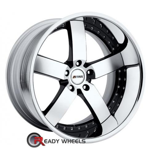 PETROL Traviata Machined w/ Black 5-Spoke 24 20 5x112