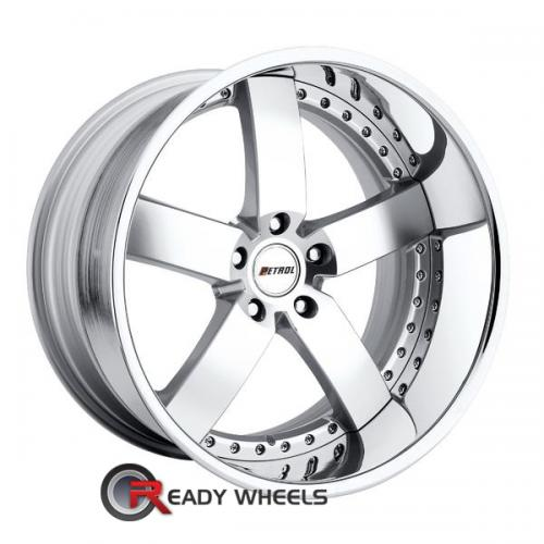 PETROL Traviata Machined w/ Silver 5-Spoke 24 20 5x112