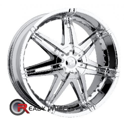 Polo Polaris T923 Chrome 7-Spoke Split 20 5x108 + Delinte D7 245/35/20