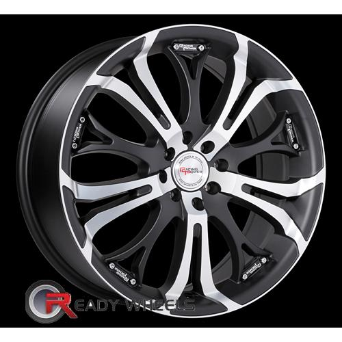 Racing Power T927 Flat Black Machined Face Multi-Spoke 17 4x114