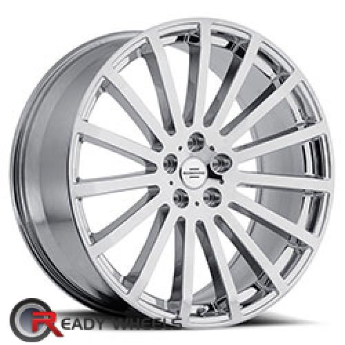 REDBOURNE DOMINUS Chrome Multi-spoke 20 5x120 + Delinte D7 245/35/20