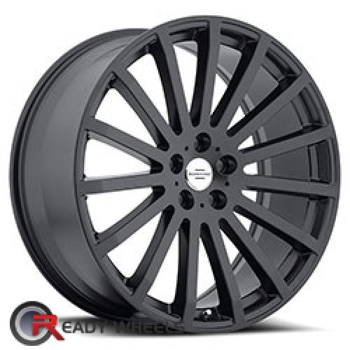 REDBOURNE DOMINUS Matte Black Multi-spoke 20 5x120 + Delinte D7 245/35/20