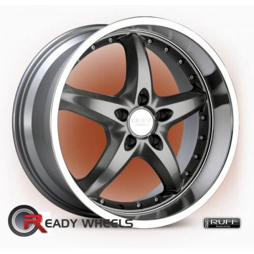 RUFF RACING R280 Hyperblack 5-Spoke 35 18 5x112