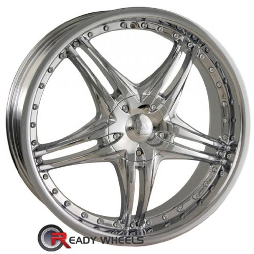SACCHI S42 Chrome 5-Spoke Split 40 18 4x100 + Delinte D7 225/40/18