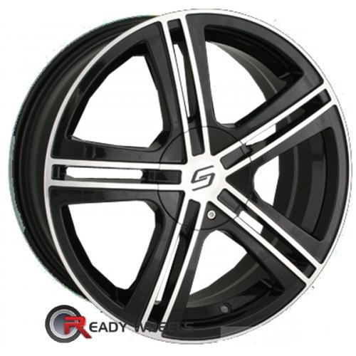SACCHI S62 Black Gloss 5-Spoke Split 40 18 4x100 + Delinte D7 225/40/18