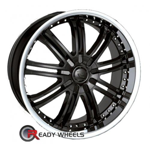SACCHI S95 Black Gloss Multi-Spoke 35 18 5x108 + Delinte D7 225/40/18