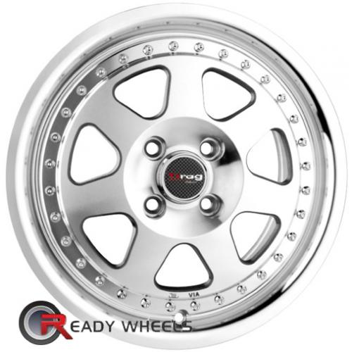 MSR 86 Silver 7-Spoke Split 18 4x100 + Delinte D7 225/40/18