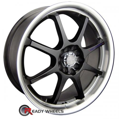 SPEEDY Lite 8 Black Gloss 8-Spoke 45 18 4x100 + Delinte D7 225/40/18