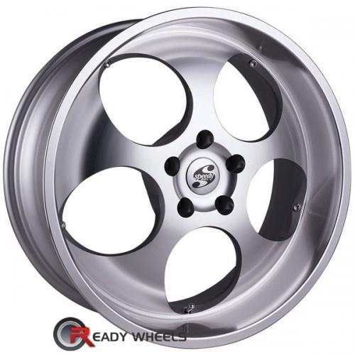 SPEEDY Sphere Machined w/ Silver 5-Spoke 15 20 6x139 + Delinte D7 245/35/20