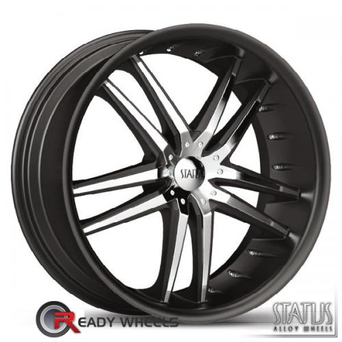 STATUS Fang Black w/ Chrome Cap 5-Spoke Split 42 20 5x100
