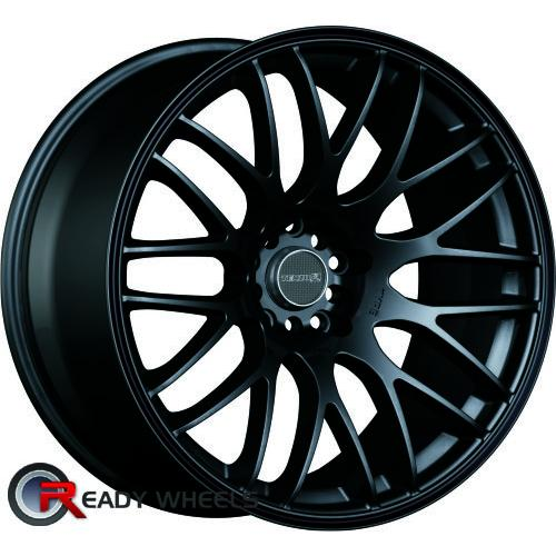 TENZO Type-M Version 1 Black Flat Mesh / Web 25 18 5x100 + Delinte D7 225/40/18