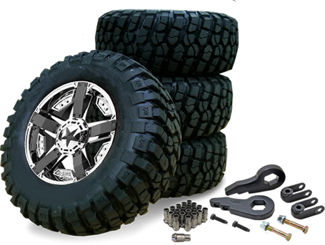 readywheels off road wheel and tire package deal