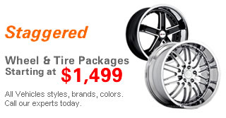 Staggered Wheel and Tire Packages